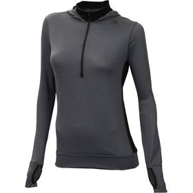 Aclima LightWool Sweat à capuche avec fermeture éclair Femme, iron gate/jet black